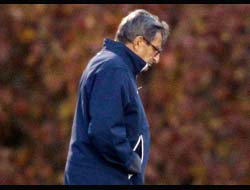 Penn State board of trustees announce Joe Paterno has been fired, defensive coordinator Tom Bradley named interim head coach