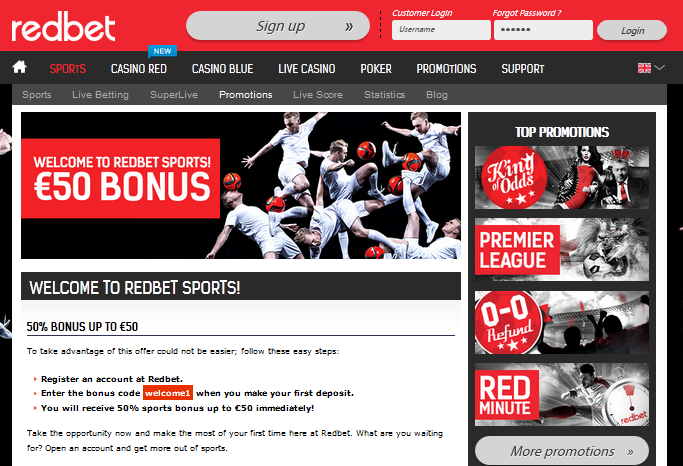 Redbet Sports Betting Site Review by BSN Sports blog