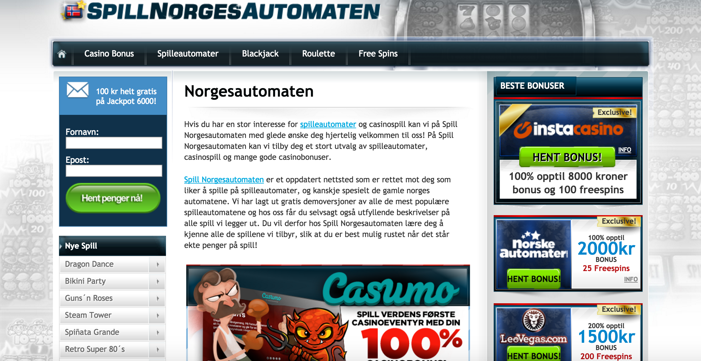 Best Online Casino Games at Spillnorgesautomaten
