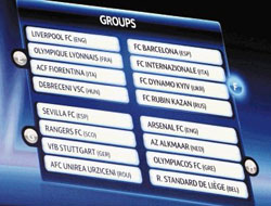 Real Madrid is on the Group C with  AC Milan, Marseille and Zurich