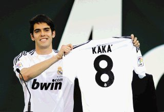 Real Madrid Sold 600 shirts of Kaká