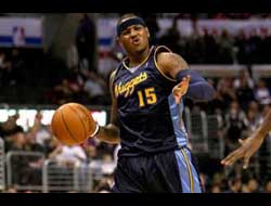 Sports Betting News - Carmelo Anthony with the Nuggets