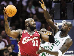 Shaq O'Neal and the Cavaliers Lost Against Celtics in Debut Game