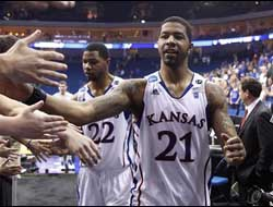 Richmond Spiders vs. Kansas Jayhawks Sweet Sixteen Odds