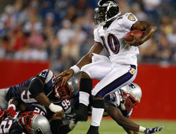 Baltimore Ravens vs. New England Patriots betting odds at BSN Sports