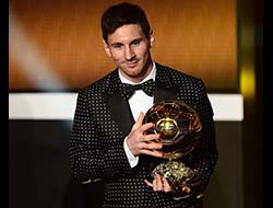 Lionel Messi becomes the first player ever to win the award 4 times consecutively